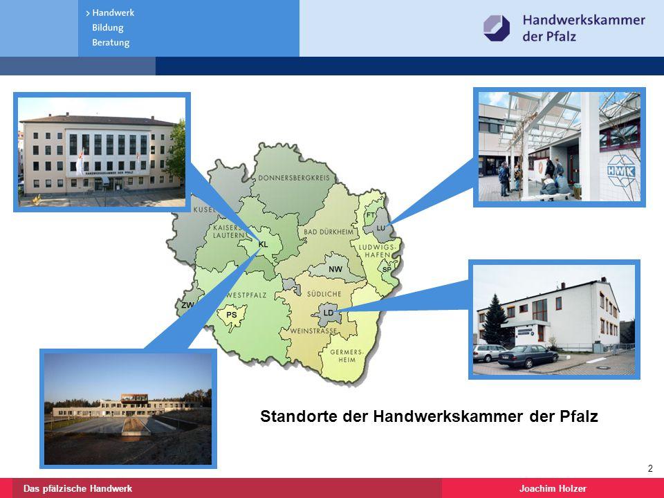 Joachim HolzerDas pfälzische Handwerk 13 Vielen Dank für Ihre Aufmerksamkeit Handwerkskammer der Pfalz Joachim Holzer Bereichsleiter Weiterbildung und Technologietransfer Im Stadtwald 15 67663 Kaiserslautern jholzer@hwk-pfalz.de