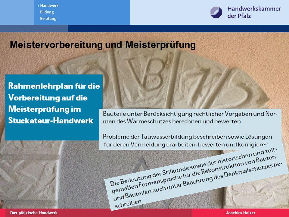 Joachim HolzerDas pfälzische Handwerk 10 Restaurator im Handwerk