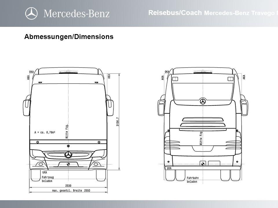 Abmessungen/Dimensions Reisebus/Coach Mercedes-Benz Travego M