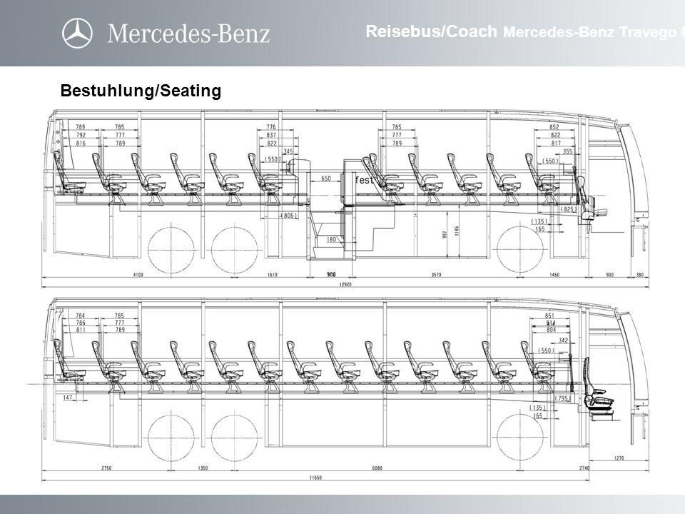 Bestuhlung/Seating Reisebus/Coach Mercedes-Benz Travego M