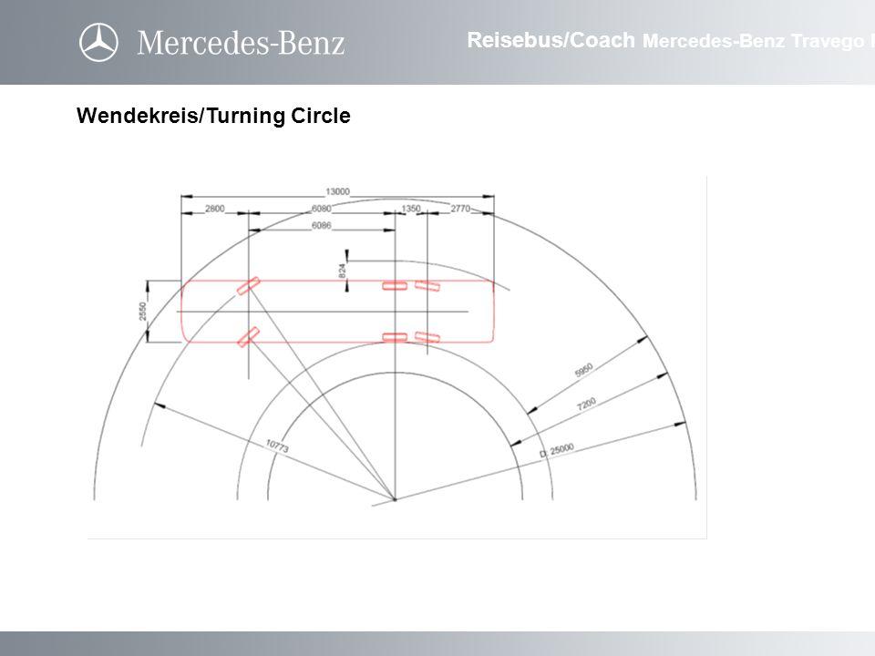 Wendekreis/Turning Circle Reisebus/Coach Mercedes-Benz Travego M