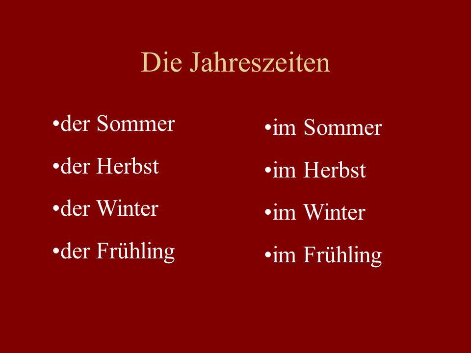 Die Jahreszeiten der Sommer der Herbst der Winter der Frühling im Sommer im Herbst im Winter im Frühling