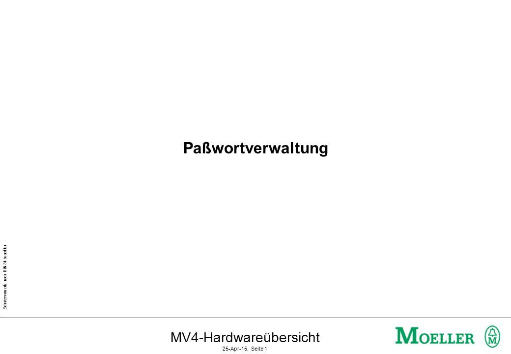 Schutzvermerk nach DIN 34 beachten MV4-Hardwareübersicht 25-Apr-15, Seite 1 Paßwortverwaltung