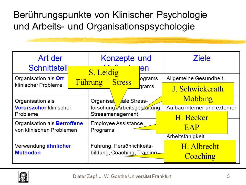 Dieter Zapf, J. W.