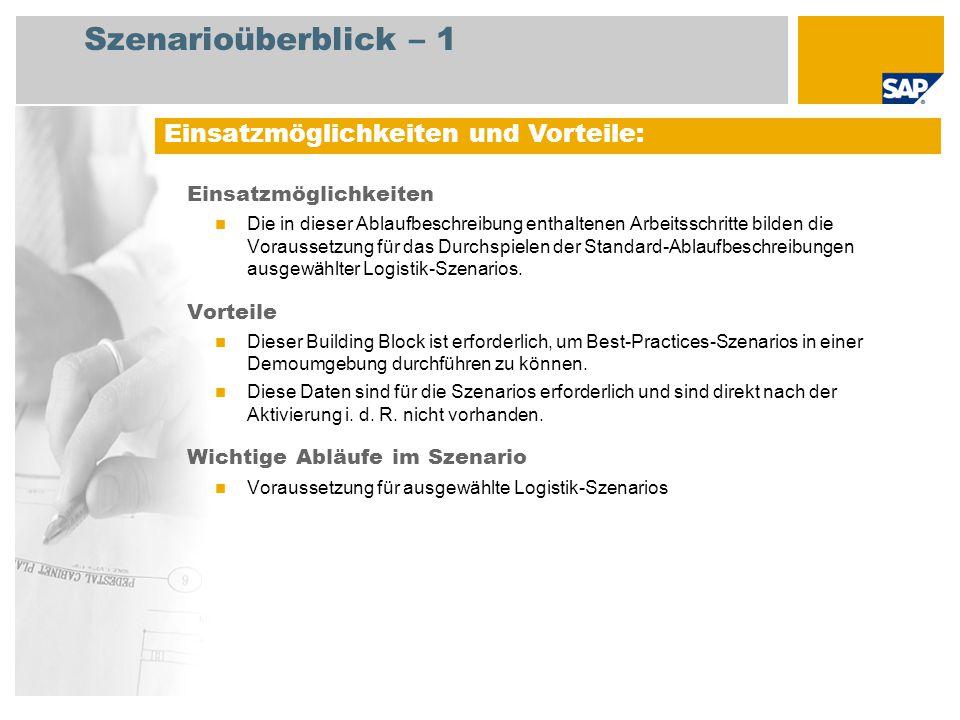Szenarioüberblick – 2 Erforderlich SAP enhancement package 4 for SAP ERP 6.0 An den Abläufen beteiligte Benutzerrollen Hauptbuchhalter Produktkosten-Controller Produktionsplaner Konstruktion Anlagenbuchhalter Administrator Erforderliche SAP-Anwendungen: