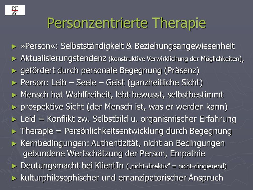 Personzentrierte Therapie ► »Person«: Selbstständigkeit & Beziehungsangewiesenheit ► Aktualisierungstendenz (konstruktive Verwirklichung der Möglichke