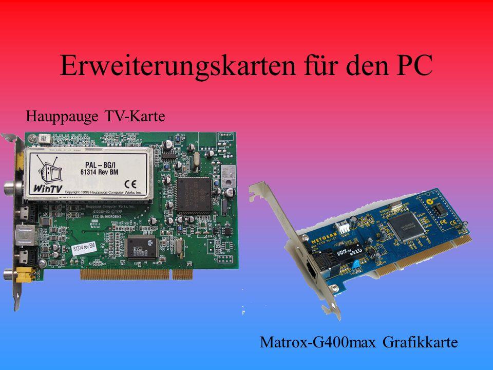 Erweiterungskarten für den PC Hauppauge TV-Karte Matrox-G400max Grafikkarte