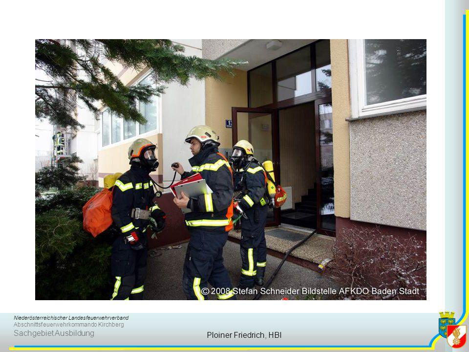 Niederösterreichischer Landesfeuerwehrverband Abschnittsfeuerwehrkommando Kirchberg Sachgebiet Ausbildung Ploiner Friedrich, HBI