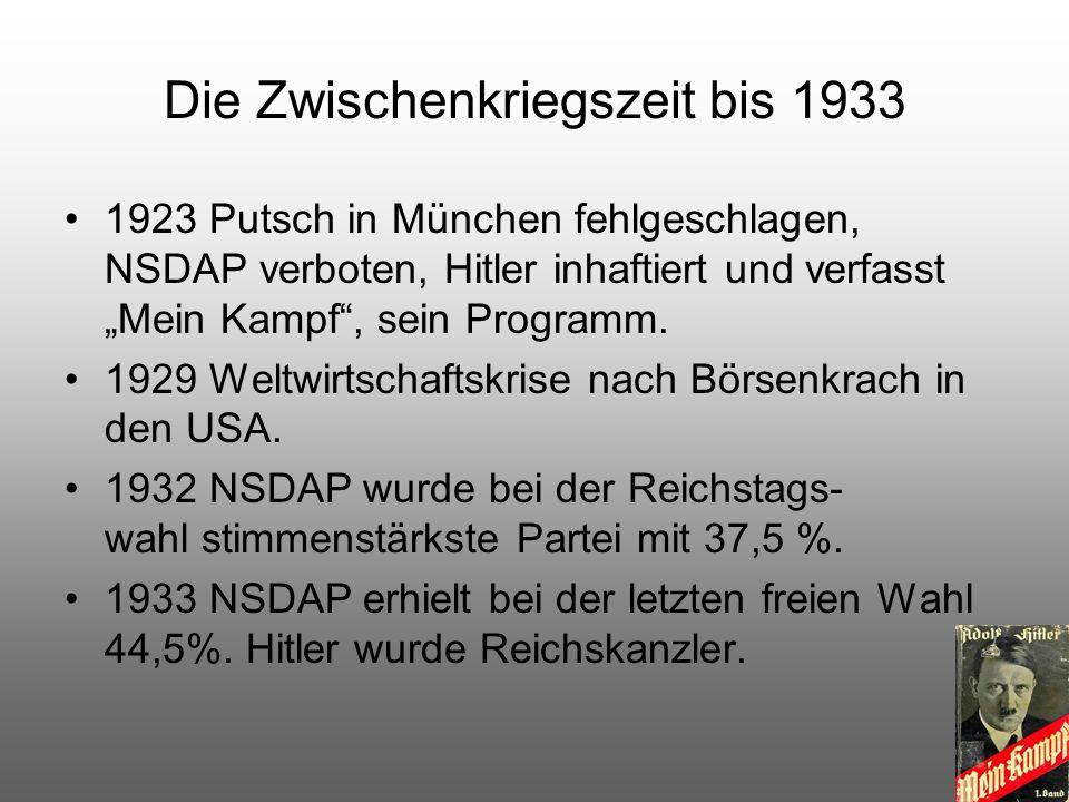 Deutschland als Diktatur März 1933 Ermächtigungsgesetz Hitler Diktator, NSDAP Einheitspartei, Deutschland soll wieder mächtig werden.