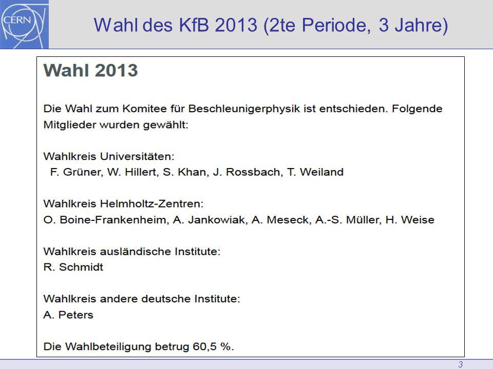 Wahl des KfB 2013 (2te Periode, 3 Jahre) 3