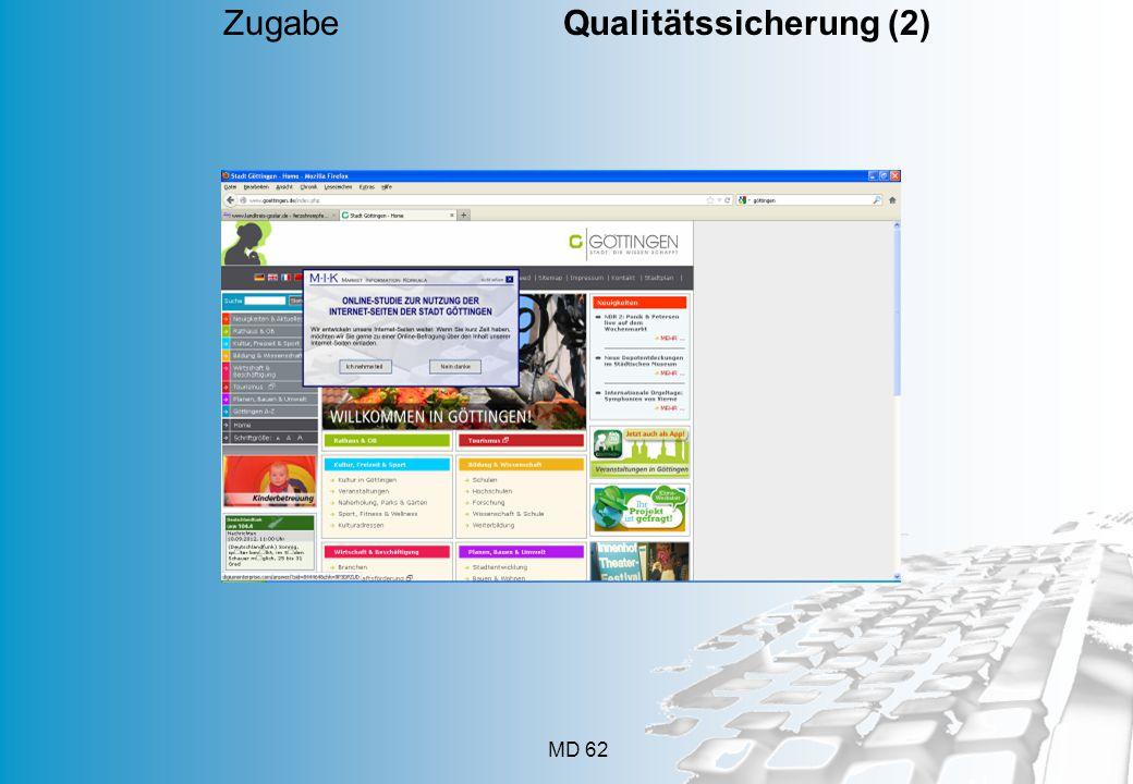 MD 62 Zugabe Qualitätssicherung (2)