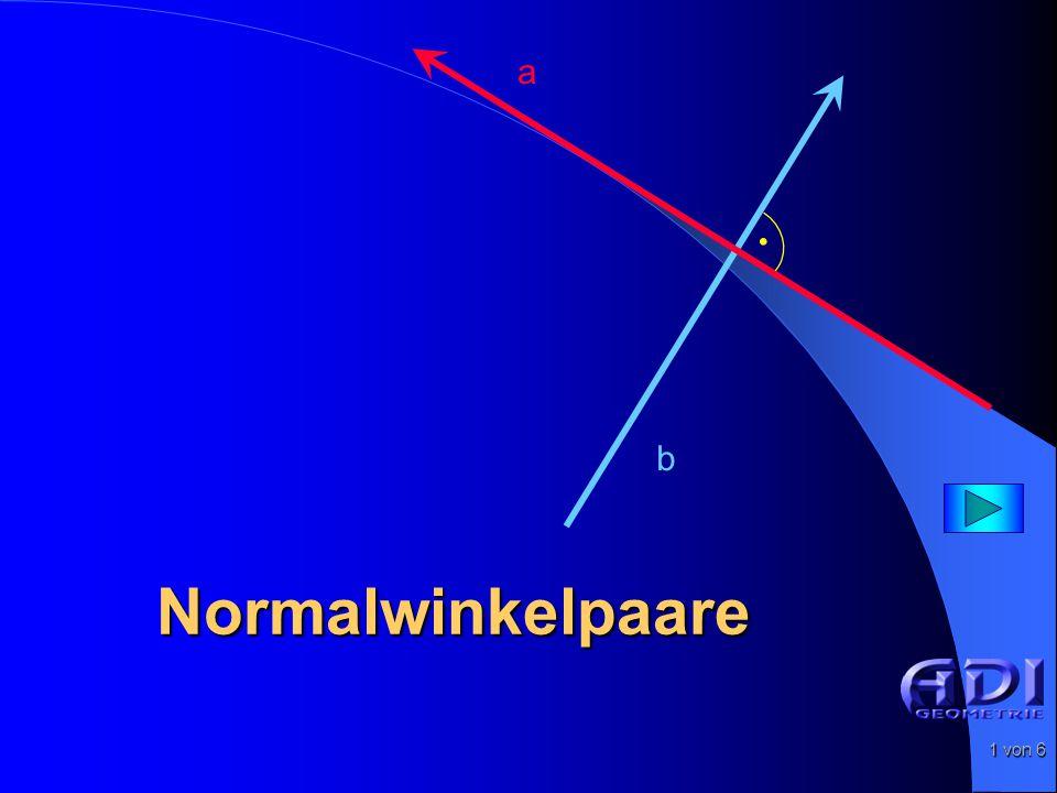 2 von 6 Normalwinkelpaare Gegeben: Winkel  1 S1S1 a1a1 b1b1  1 S2S2 Punkt S 2 außerhalb des Winkelfeldes (a 1, b 1 ).