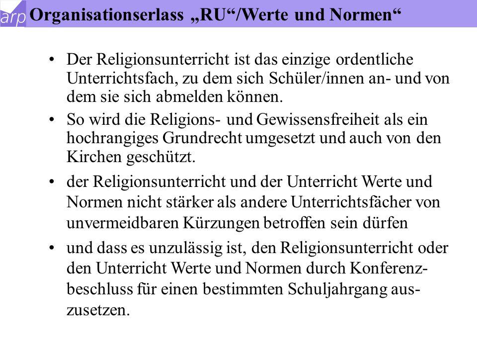 Konfessionalität des Religionsunterrichtes Ev.Religionslehre: 1.Ev.