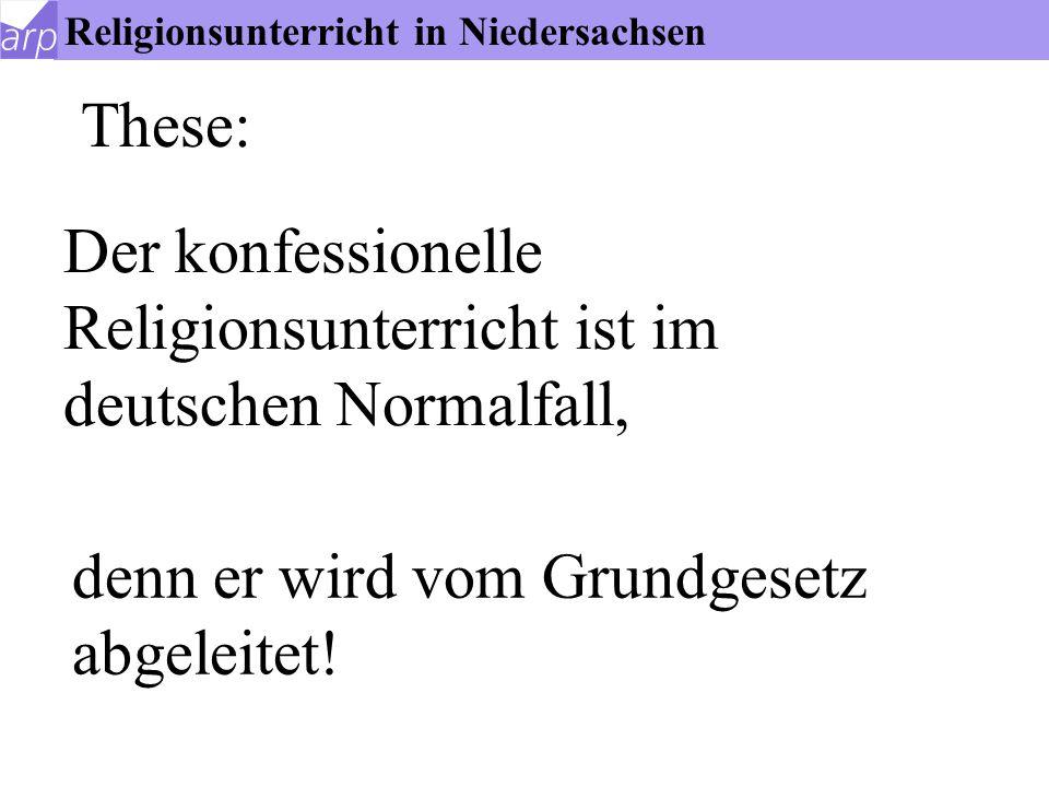 Konfessioneller Religionsunterricht in Niedersachsen Henning Eden, Arbeitsstelle für Religionspädagogik