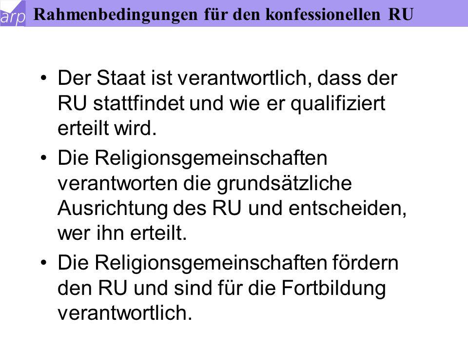 """Gesetzliche Grundlage des RU Mit diesem Grundgesetzartikel ist eine gemeinsame Verantwortung von Staat und Kirche formuliert (""""res mixta ), um jedem einseitigen staatlichen Missbrauch des RU zu eigenen Zwecken zu wehren: """"So etwas wie ab 1933 (nämlich dass die Weltanschauung für staatliche Macht missbraucht wurde) darf es in Deutschland nie wieder geben!"""