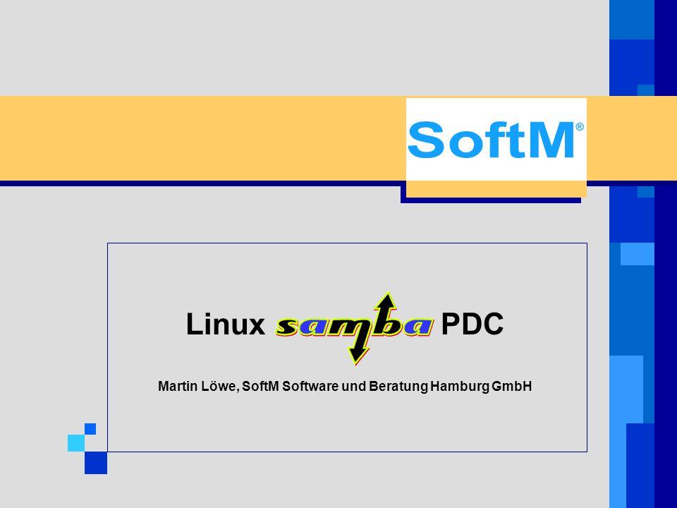Linux SaMBa PDC Begrüßung / Vorstellung des Ablaufs zBegrüßung / Vorstellung des Ablaufs zDarstellung der Ist-Analyse zVorstellung des Soll-Konzeptes zEinweisung in die Bedienung zErgebnis Dauer ca.