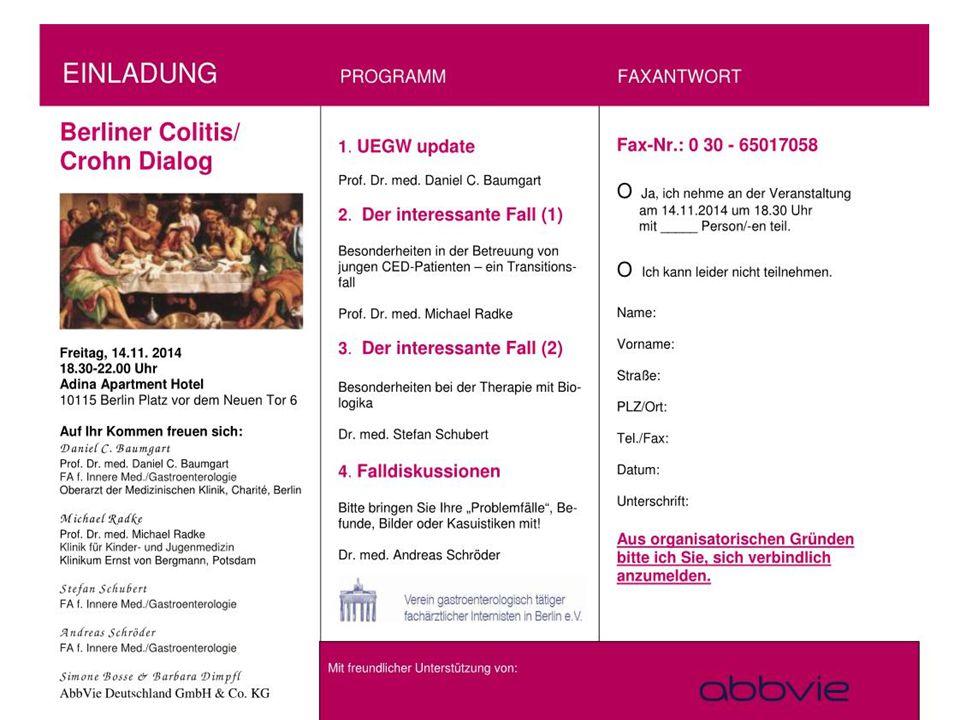14.11.2014 Berliner Colitis /Crohn-Dialog