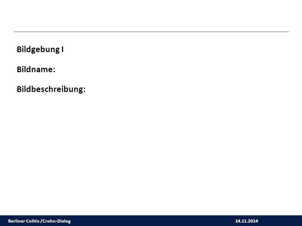 14.11.2014 Bildgebung I Bildname: Bildbeschreibung: Berliner Colitis /Crohn-Dialog