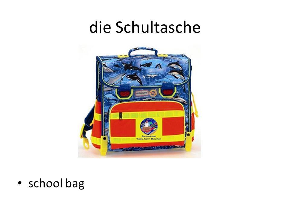 die Schultasche school bag