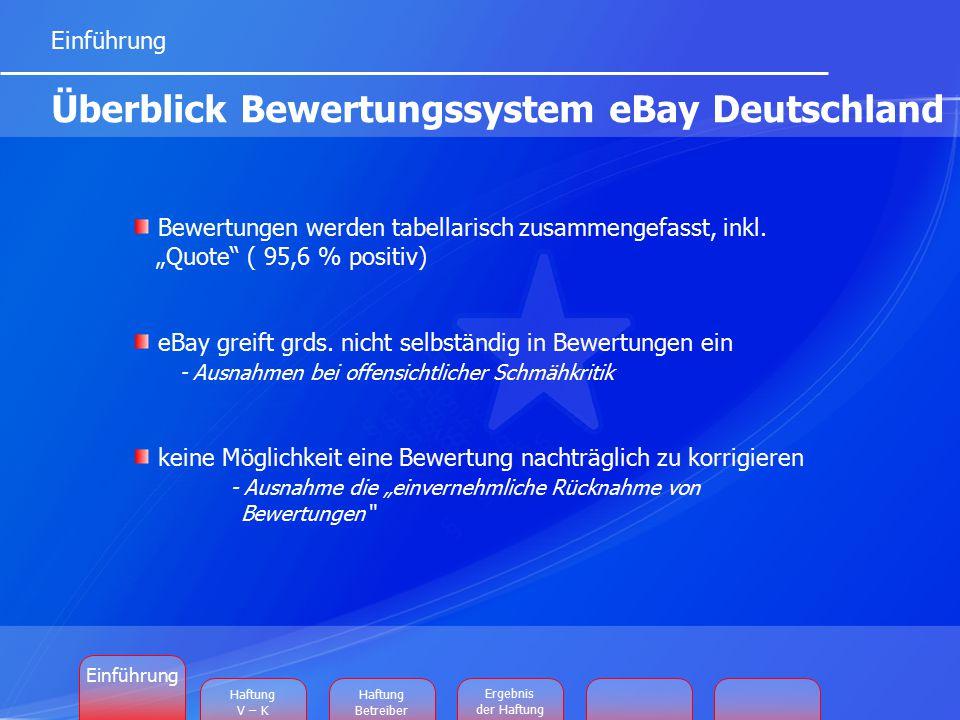 """Bewertungen werden tabellarisch zusammengefasst, inkl. """"Quote"""" ( 95,6 % positiv) eBay greift grds. nicht selbständig in Bewertungen ein - Ausnahmen be"""