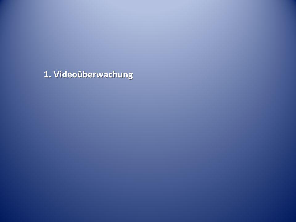 1. Videoüberwachung