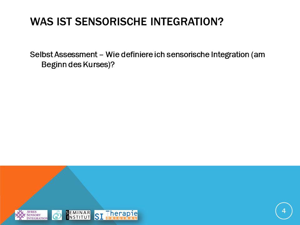 VOM EINZELTEIL ZUM GANZEN Beim Prozess der sensorischen Integration werden alle Sinnes- informationen miteinander verknüpft.