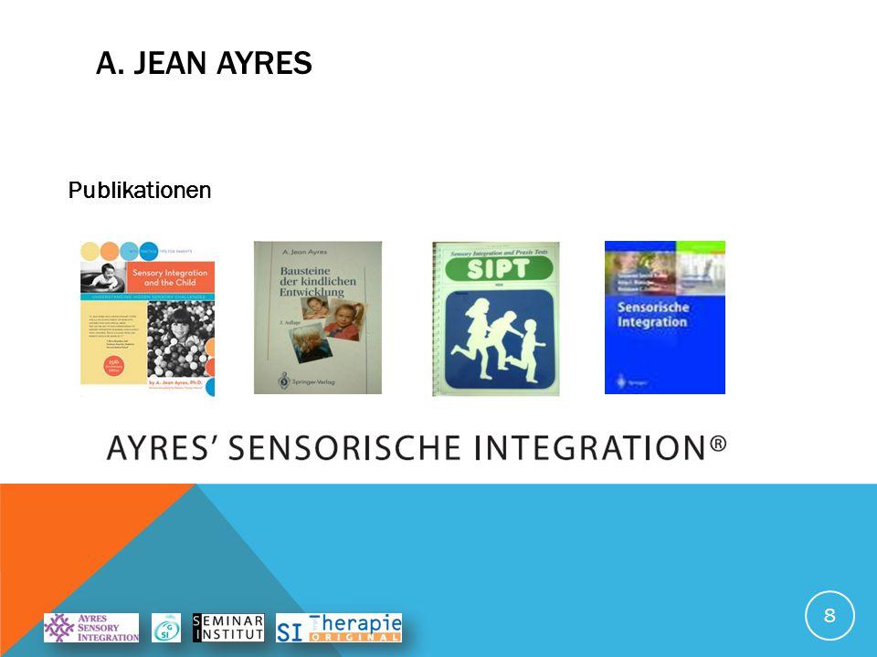 Stellte Zusammenhang her zwischen neurologischen Funktionen und  Verhalten  Lernen  Emotionen A. JEAN AYRES 7