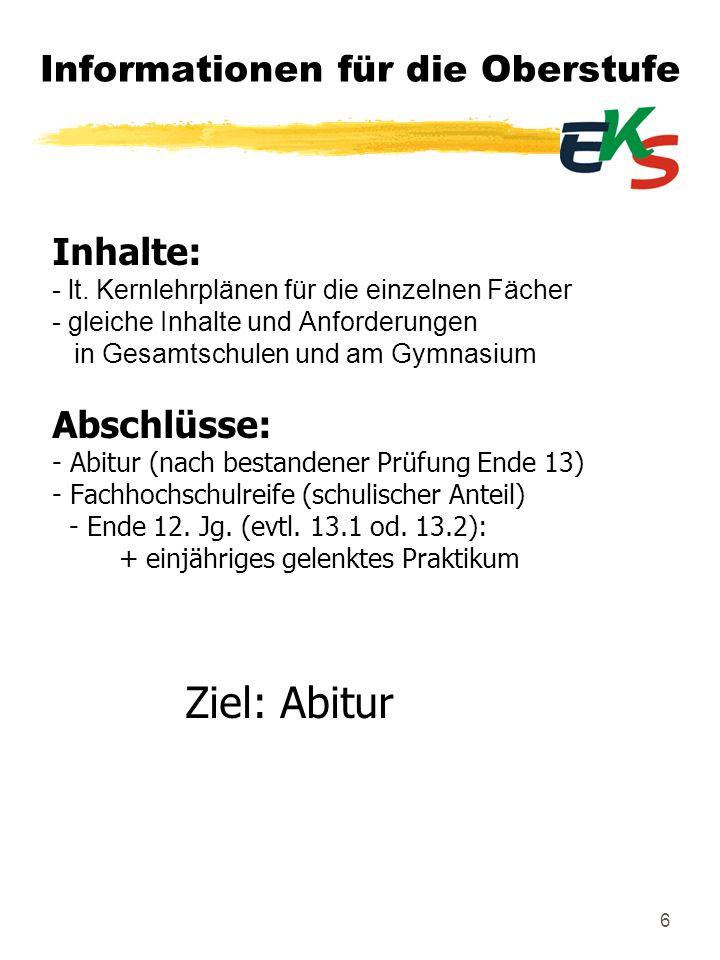 27 Informationen für die Oberstufe Einführungsphase ( 11.Jahrgang) Zweiwöchiges Betriebspraktikum im 11.