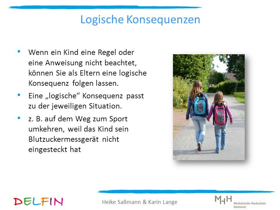 Heike Saßmann & Karin Lange Logische Konsequenzen Wenn ein Kind eine Regel oder eine Anweisung nicht beachtet, können Sie als Eltern eine logische Kon
