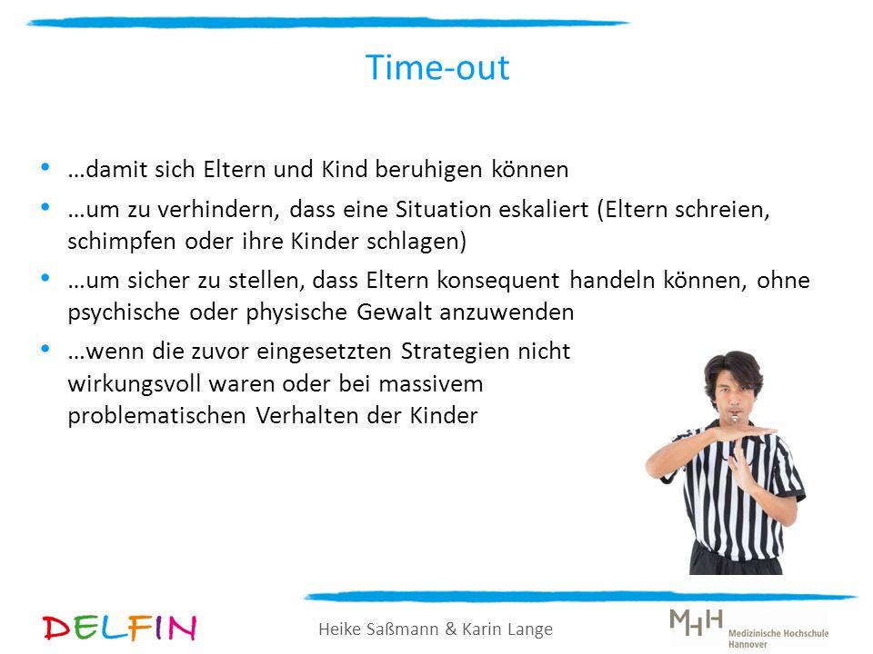 Heike Saßmann & Karin Lange …damit sich Eltern und Kind beruhigen können …um zu verhindern, dass eine Situation eskaliert (Eltern schreien, schimpfen