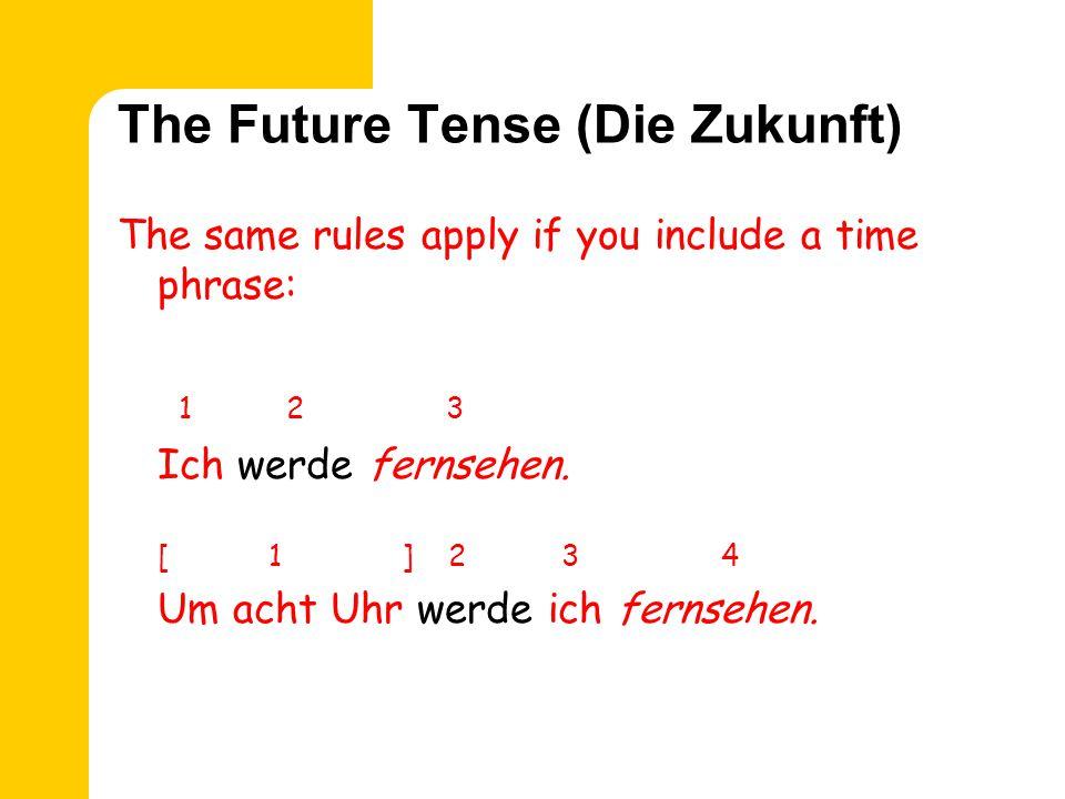 The Future Tense (Die Zukunft) 1 2 3 Ich werde einkaufen.
