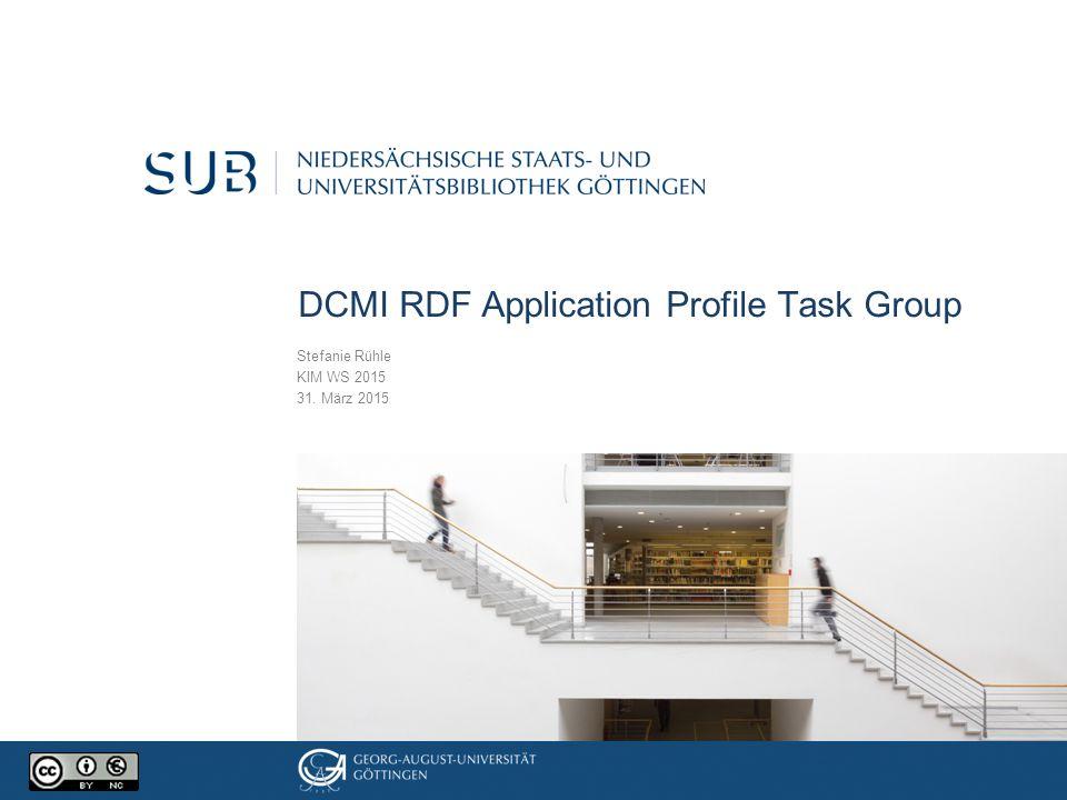 Overview Ausgangslage und Ziele der RDF AP Task Group Use Case Database Beispiel CS-6 Use of EDM in DDB