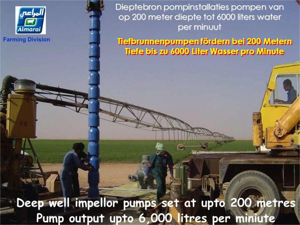 MACHINE KRACHT = Tot 700 PK Waterverbruik in 2009 = 410.000.000 M³ Diesel verbruik = 1 miljard liters MASCHINEN LEISTUNG = Bis zu 700 PS Wasserverbrau