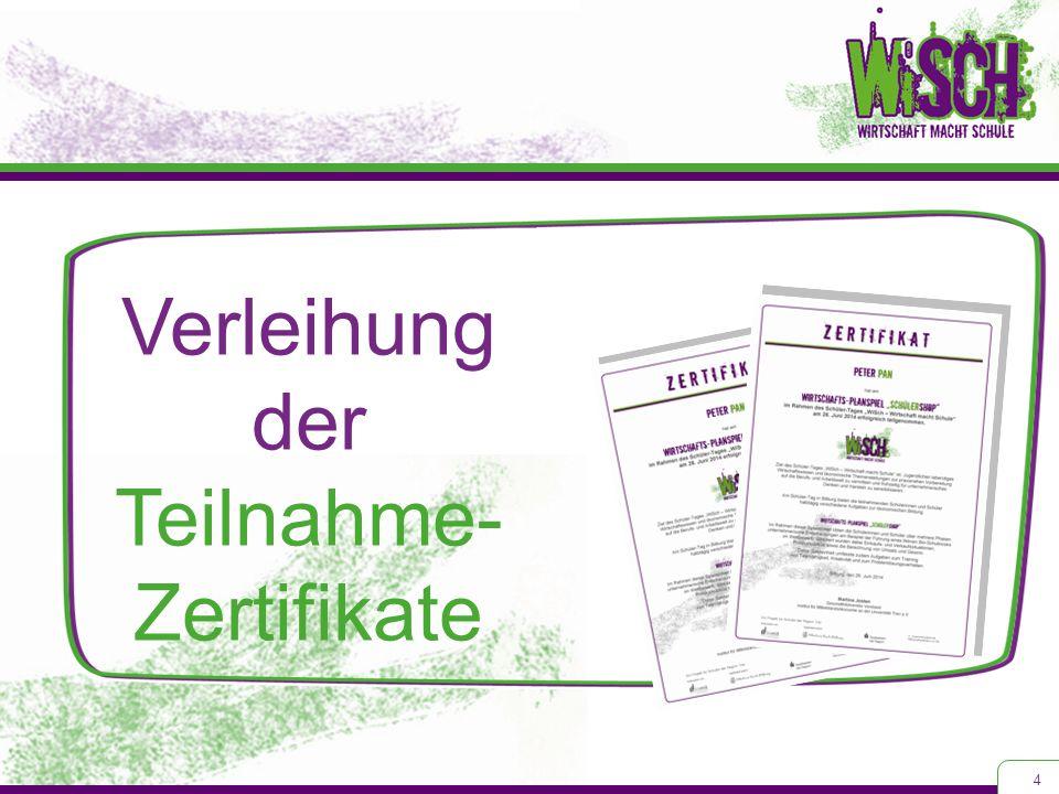 Verleihung der Teilnahme- Zertifikate 4