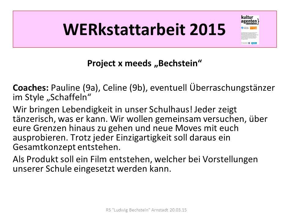 RS Ludwig Bechstein Arnstadt 20.03.15 WERkstattarbeit 2015 tennisKULT Du wolltest schon immer einmal Tennis spielen.