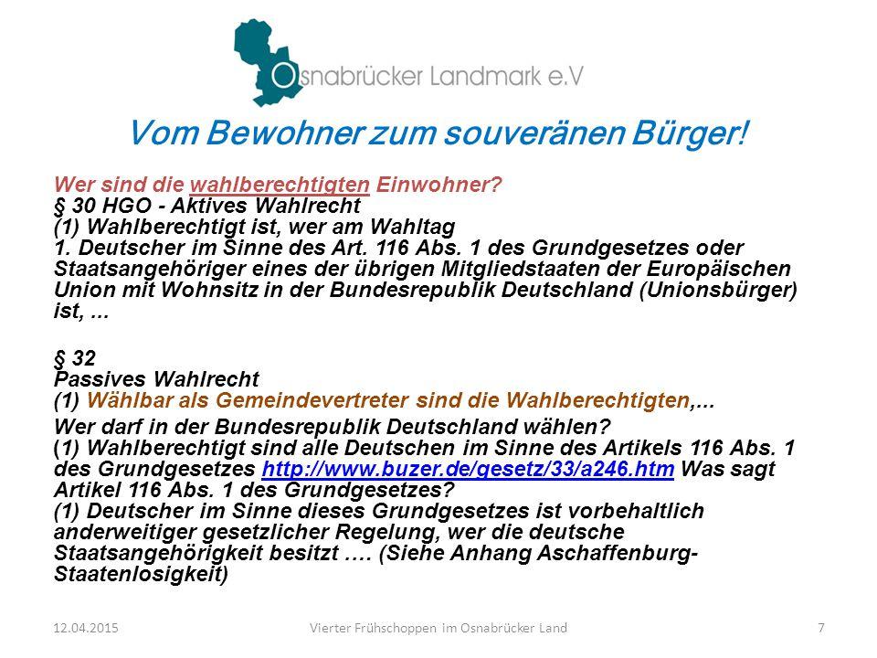 Regiert von Unternehmen! 12.04.2015Vierter Frühschoppen im Osnabrücker Land18
