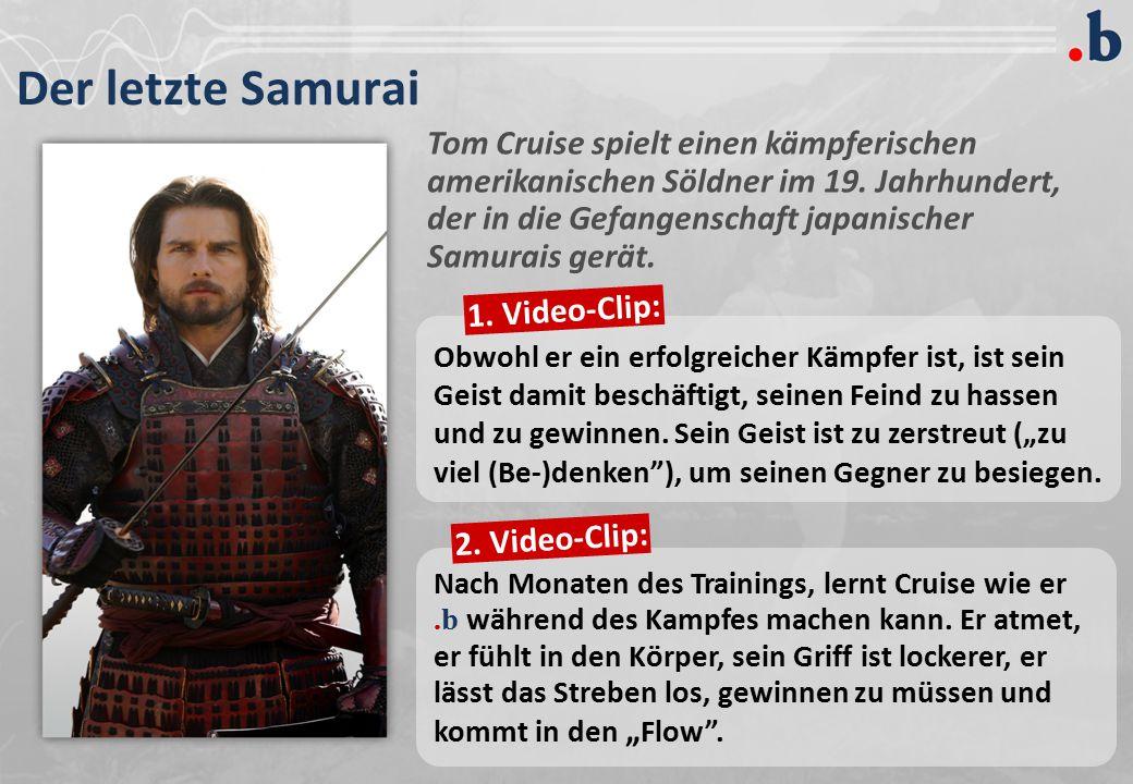 Der letzte Samurai Tom Cruise spielt einen kämpferischen amerikanischen Söldner im 19. Jahrhundert, der in die Gefangenschaft japanischer Samurais ger