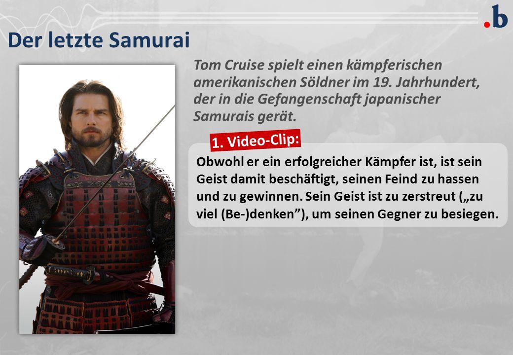 Der letzte Samurai Tom Cruise spielt einen kämpferischen amerikanischen Söldner im 19.