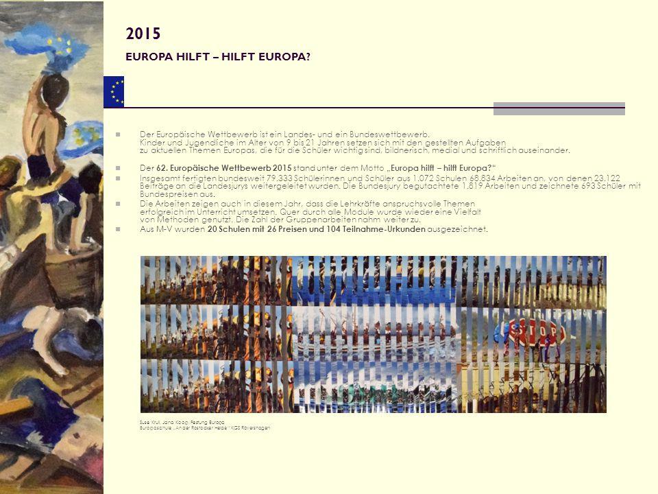 Mit großer Freude haben wir die vielen schönen Arbeiten aus den 39 beteiligten Schulen betrachtet.