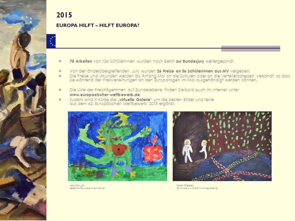 Wir freuen uns auf den 63.Europäischen Wettbewerb und Eure Beiträge.