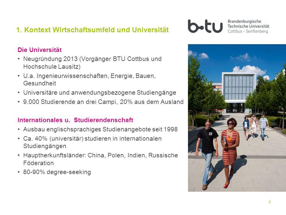 4 Die Universität Neugründung 2013 (Vorgänger BTU Cottbus und Hochschule Lausitz) U.a.