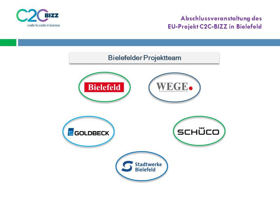 Abschlussveranstaltung des EU-Projekt C2C-BIZZ in Bielefeld Bielefelder Projektteam
