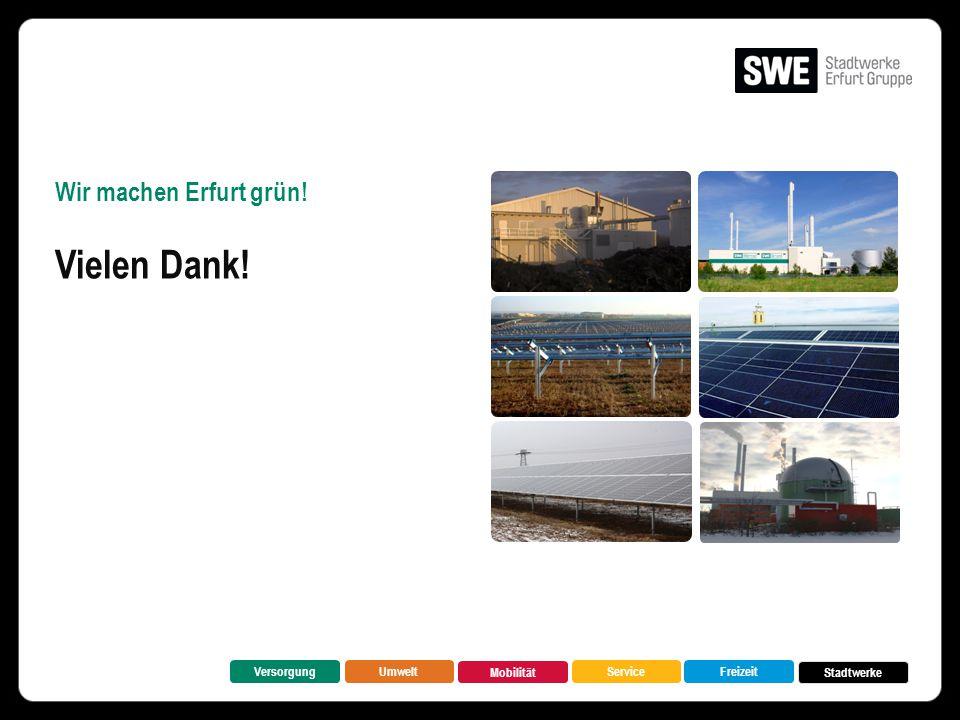 Wir machen Erfurt grün! Vielen Dank! VersorgungUmwelt Mobilität FreizeitService Stadtwerke