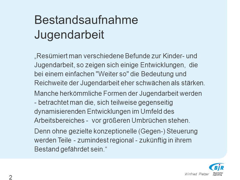 "Winfried Pletzer Veränderungen 6: Blickpunkt Jugend > ""Verschiedene Jugendwelten > ""Multioptionsgesellschaft vs."