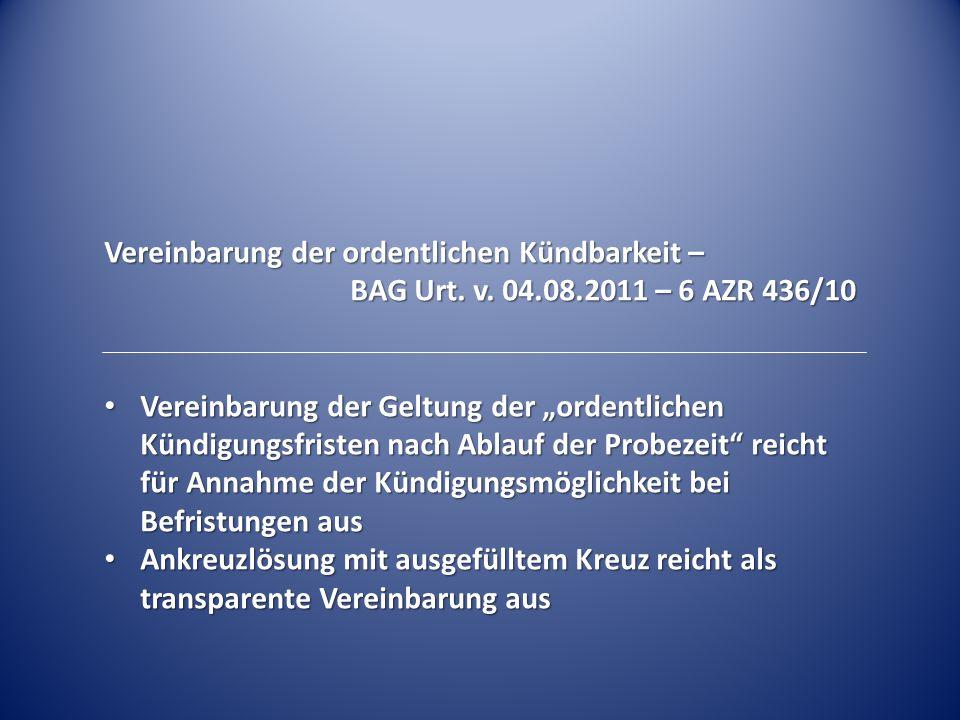 Schriftform der Befristung – Rückgabe des Vertrags nach Arbeitsaufnahme BAG Urt.