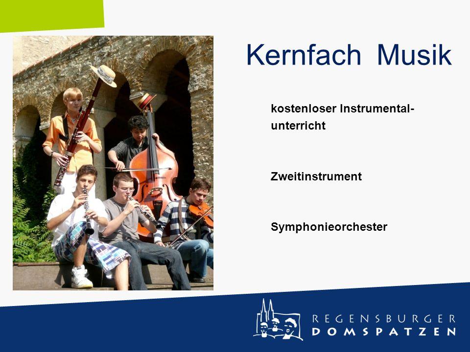 kostenloser Instrumental- unterricht Zweitinstrument Symphonieorchester Kernfach Musik