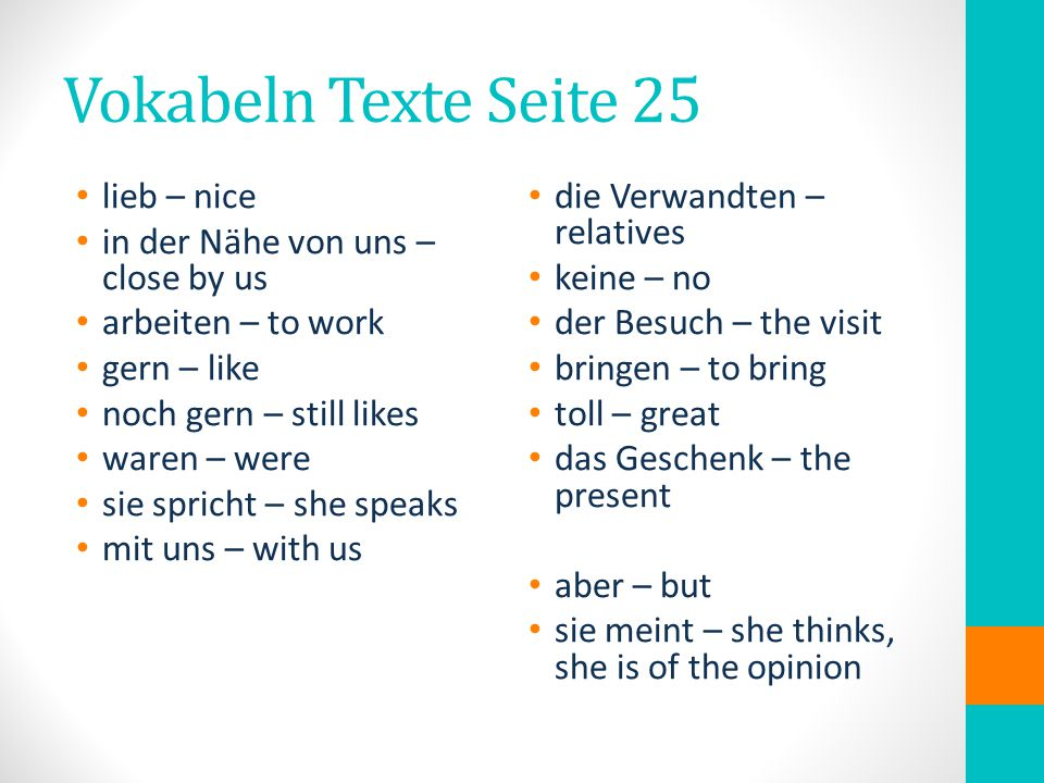 Hausaufgaben Quiz about the verb: sein You will have to make a conjugation chart with sein and the pronouns of course.
