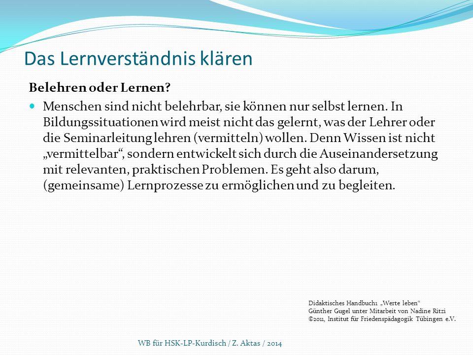 5.1 Unterricht: Planung PlanungDurchführung Auswertung Evaluieren WB für HSK-LP-Kurdisch / Z.