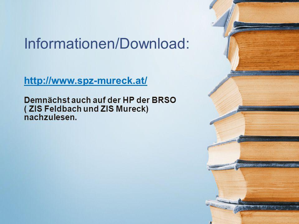 Informationen/Download: http://www.spz-mureck.at/ Demnächst auch auf der HP der BRSO ( ZIS Feldbach und ZIS Mureck) nachzulesen.