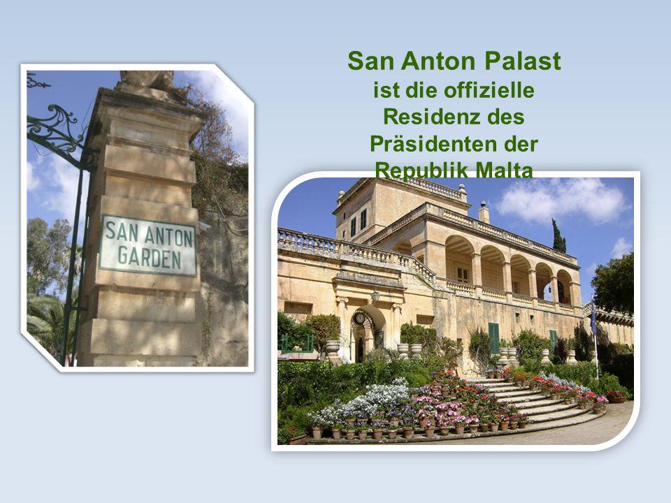 San Anton Palast ist die offizielle Residenz des Präsidenten der Republik Malta